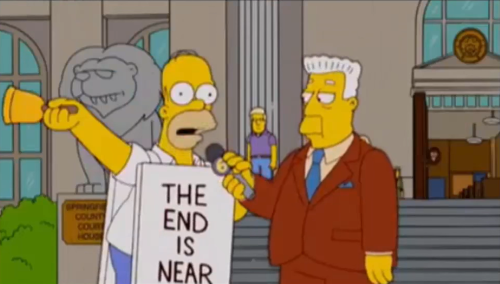 The Simpsons: Season 16, Episode 19 — Thank God it's Doomsday